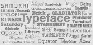 Typography Words by md9-ca