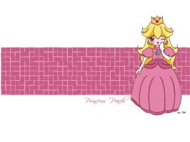 Peach wallpaper by corilefay