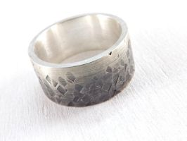 Ombre Silver Ring by Siihraya