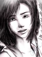 edit.Yuna sketch by michiro-mitch