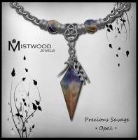 Precious Savage - unisex necklace Opal version by Aedil