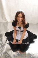 [Cosplay] Maid sit by TaniaVocaloid