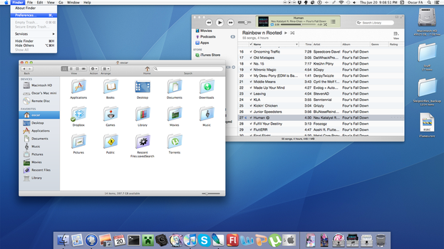 Os X Liger _ A theme for Mountain lion by rhubarb-leaf