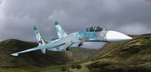 SU-27 Flanker Navy 1 by agnott