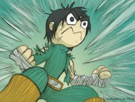 Fanart Rock Lee by FrancisOrtolan
