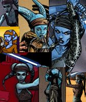 Collage of Aayla Secura by LadyIlona1984