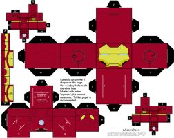 Iron Man Mark III Cubeecraft by topduelist