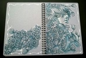 Blue Notepad by DarkSena