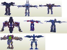 TF ROTF Wii All Characters Models 1 by PapercraftKing