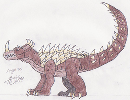 Shin Series: Anguirus by SuperSaiyan4Godzilla