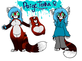 Paige Tenka  Reference[Female Fursona] by lonely-galaxies