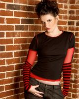 Red and Black Girl Stock 3 by kristyvictoria