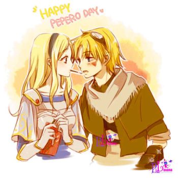 Ezreal y Lux by itii8