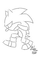 Sonic's Pace (Lineart) by BThomas64