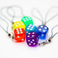 Rainbow Dice phone charms by FrozenNote
