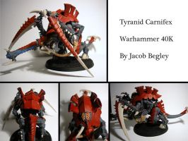 Tyranid Carnifex by chaotea