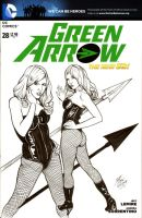 GREEN ARROW #28 Sketch Cover by DocRedfield