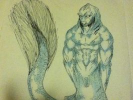 the merman. by Wolf-Angel-whitewing