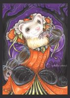 Autumn Princess Ferret by natamon