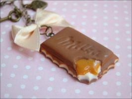 Keychain chocolate with toffee by SlodkieBlyskotki