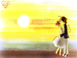 Request: Sunset for Doremi and Akatsuki by Hasunecchi