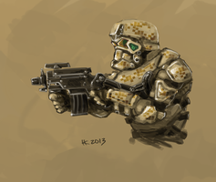 Special forces soldier by Thylacinee