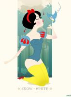 Snow White Pin Up by bunnycoffee