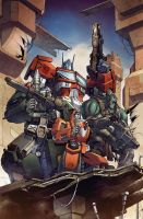 Transformers RID #19 cover B colors by khaamar
