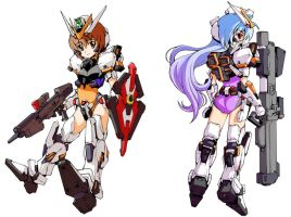 Gundam Girls by csy5150