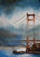 The Golden Gate Bridge by Saferdi