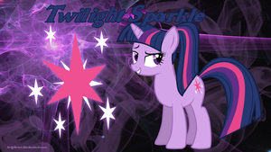 Twilight Sparkle Ponytail Wallpaper by brightrai