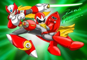 Zero and Protoman by Memphiston