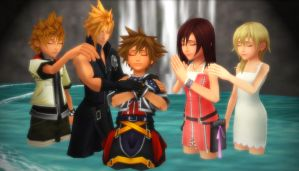 Kingdom Hearts - Into the Baptismal Water by rev-rizeup