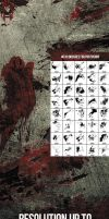 40 Bloody Massacre Photoshop Brushes by env1ro