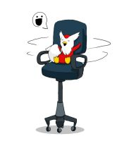 Delibird on a spinny chair by Chimmtastic