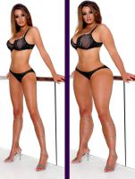 Keeley Hazell before-after by lukinhaub