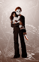 Michael Myers color by Alheli-delaGarza
