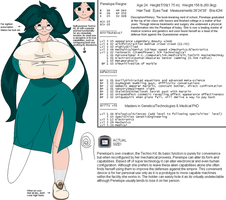 Penelope Reign Character Sheet by Buxom