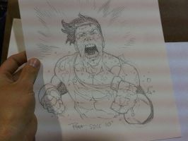 COMICON sketch Invincible MAD by RyanOttley