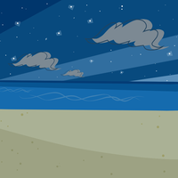 Beach At Night Background by GwennieBlack