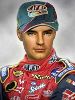 doll repainted as Jeff Gordon by noeling