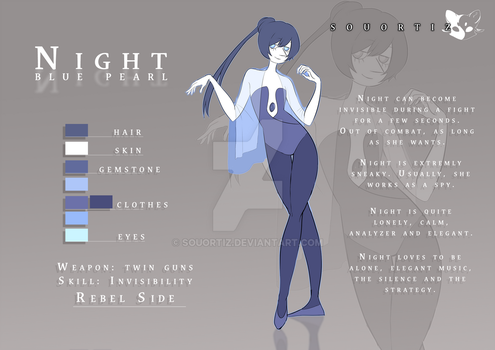 Night blue pearl   Character Sheet by SouOrtiz