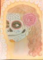 Painted Sugar Skull by energeticjen
