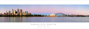 Sydney City Skyline by MattLauder