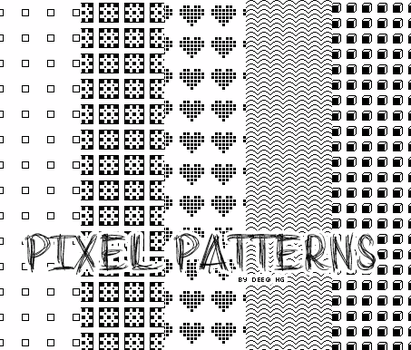 Pixel patterns by Akkanee