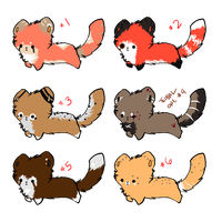 Cheap Chibi Red Panda Batch 01 + CLOSED + by Fei-Adopts