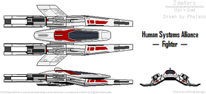 Human Systems Alliance - Fighter by Phalanx-a-vian