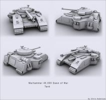 Warhammer Tank by Makavelithedon
