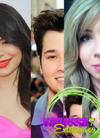 Jennette McCurdy, Nathan Kress y Miranda Cosgrove by CosgroverAddicted