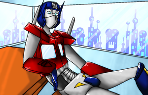 Optimus prime for Poisontransformer by skyrore1999